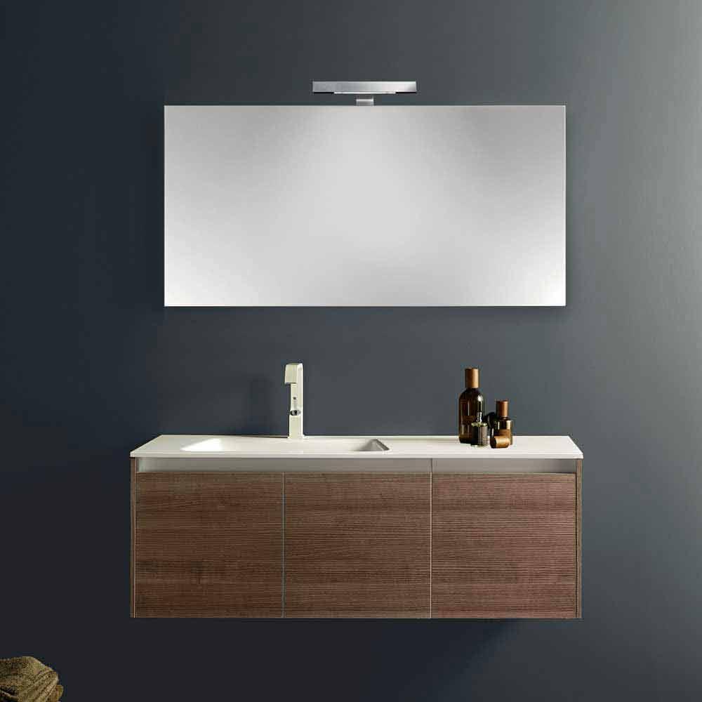 Composizione arredo bagno sospesa dal design moderno iquba - Composizione bagno moderno ...