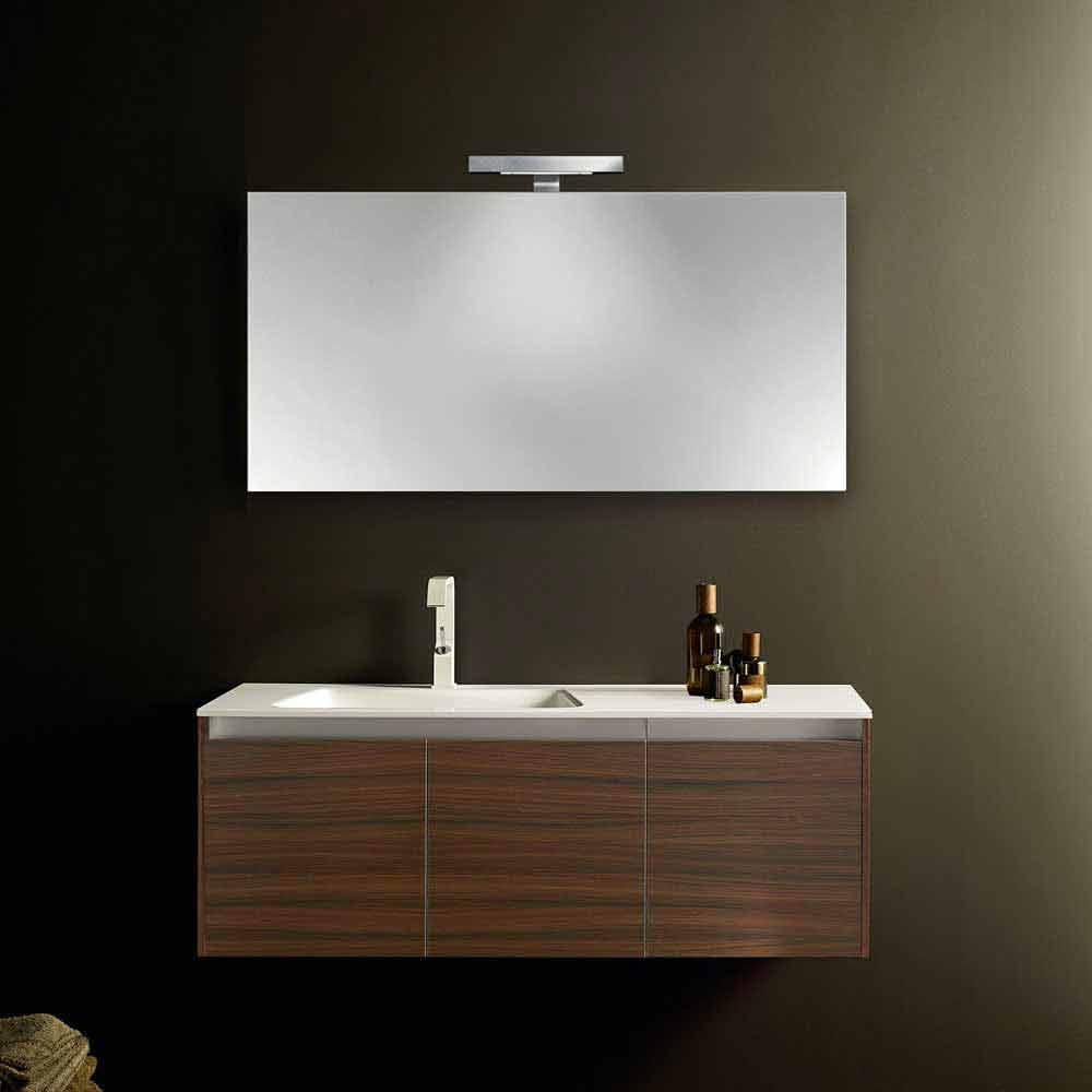 Composizione mobili bagno sospesi dal design moderno iquba for Viadurini bagno