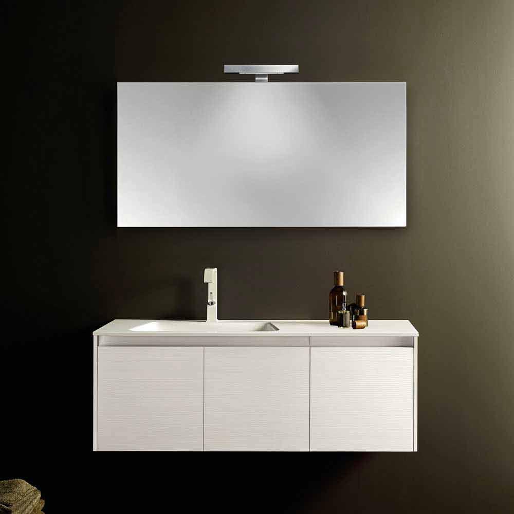 Composizione mobili bagno sospesi dal design moderno iquba for Composizione bagno