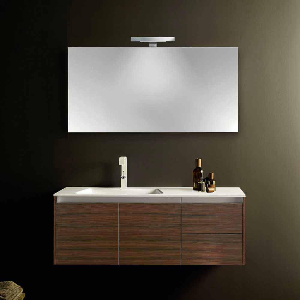Composizione mobili bagno sospesi moderni iquba 3 for Composizione bagno