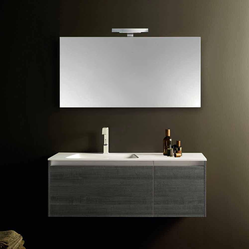 Composizione arredo bagno sospesa design moderno iquba 4 for Composizione arredo bagno