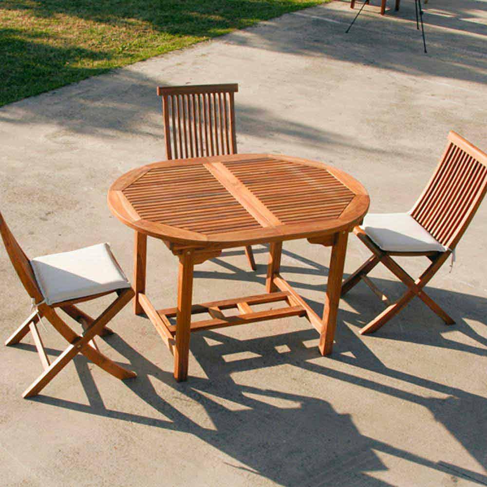 Tavolo in teak da giardino allungabile Lipari