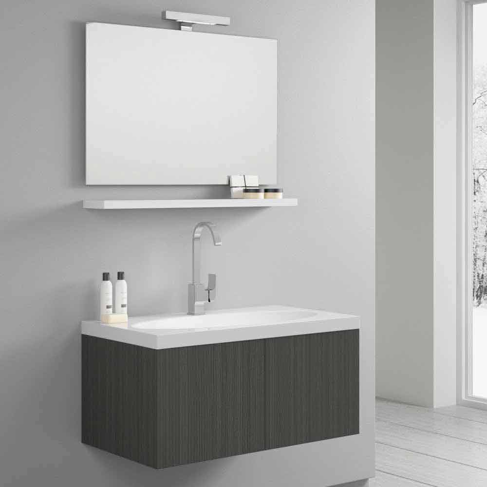 Composizione da bagno sospesa togo composizioni mobili for Viadurini bagno
