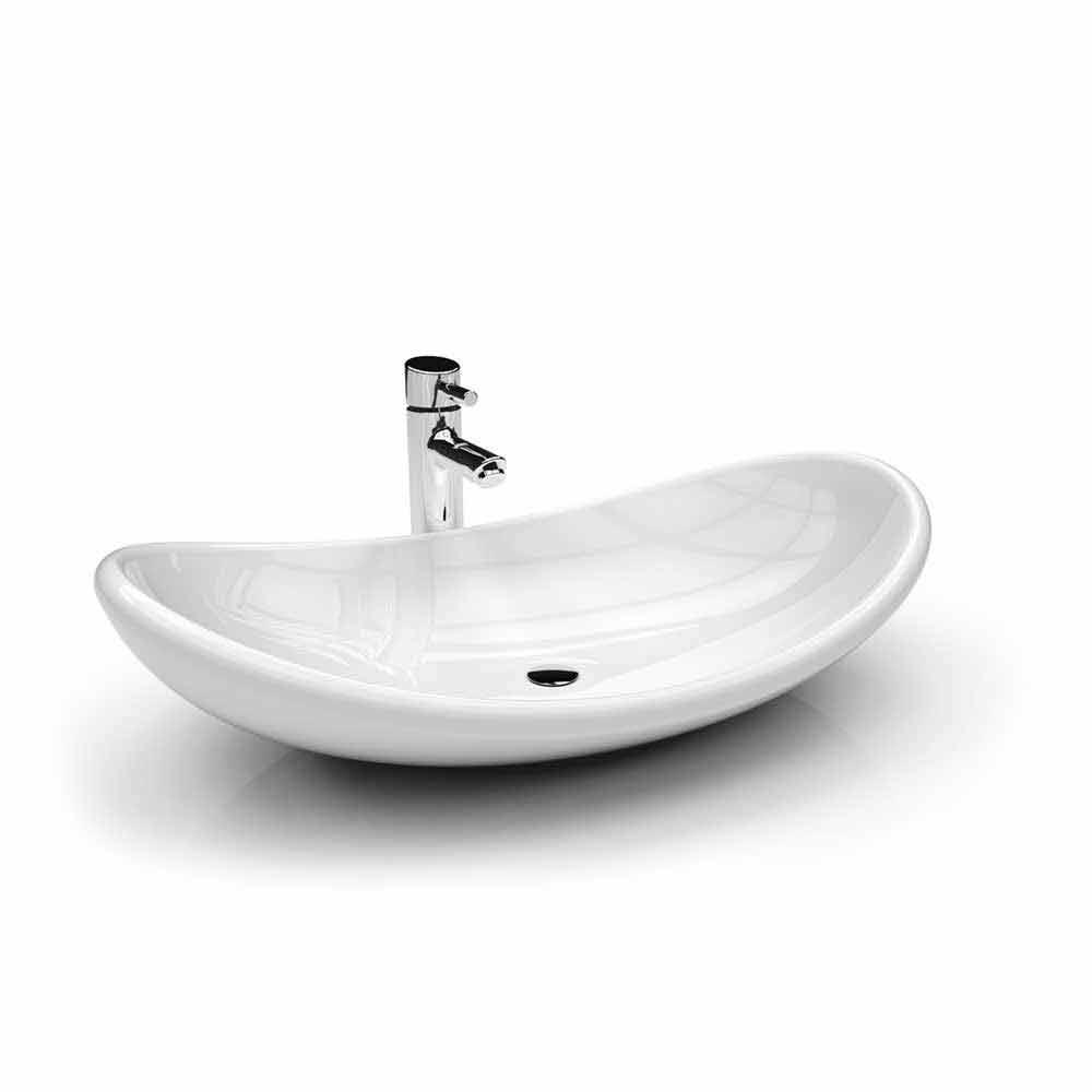 Lavandino da appoggio moderno bianco rosso o viola aysun - Lavandini bagno design ...