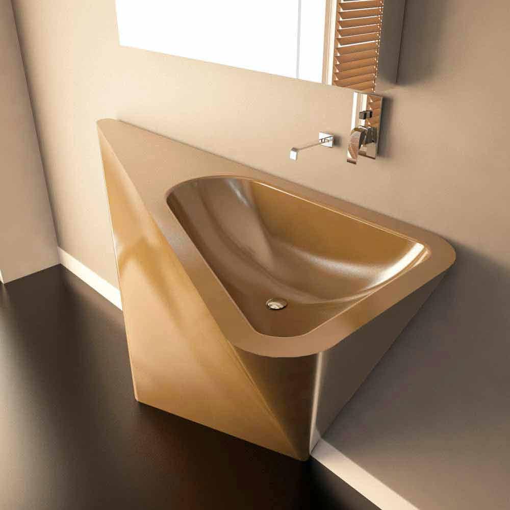 Lavabo A Colonna Design lavabo a colonna moderno realizzato artigianalmente mullet