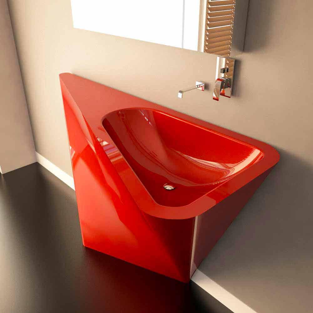 Lavabo a colonna moderno realizzato artigianalmente mullet - Lavabo bagno design ...