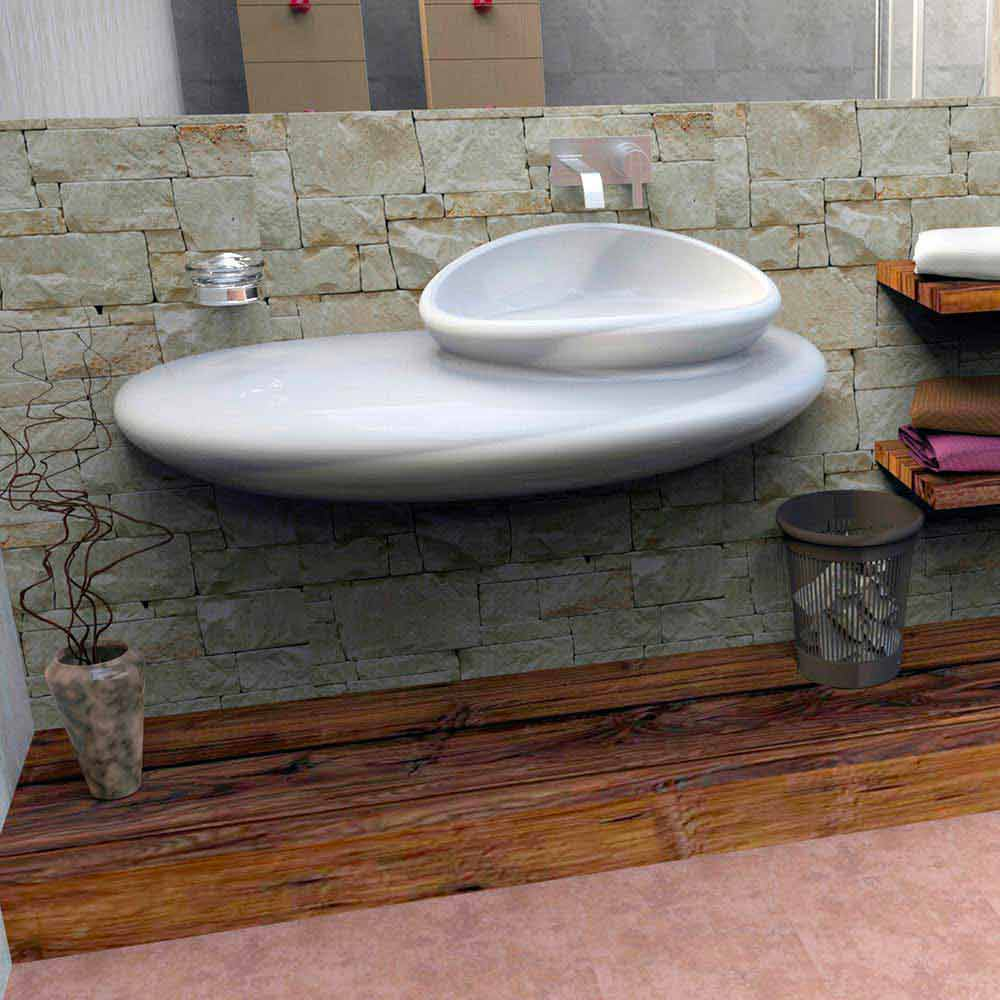 Lavabo Design Moderno Stone Made in Italy by Zad Italy ...