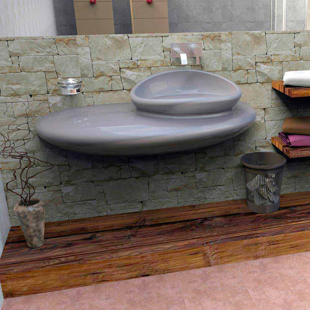 Lavabo design moderno stone made in italy by zad italy disponibile su viadurini for Lavabo design