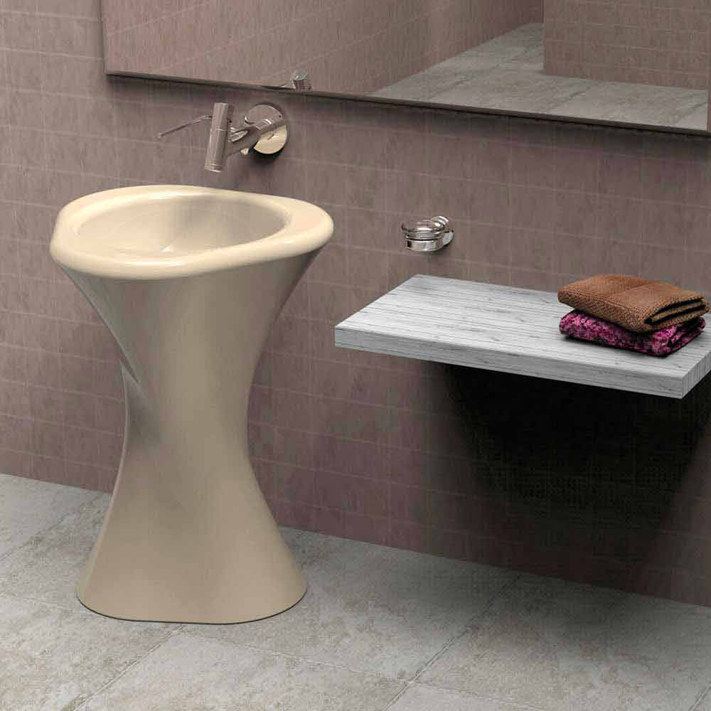 Lavabo a colonna moderno di design twister made in italy - Viadurini bagno ...