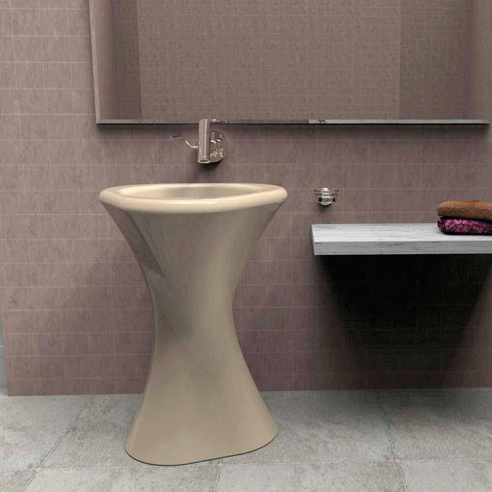 Lavabo a colonna moderno di design twister made in italy for Viadurini bagno
