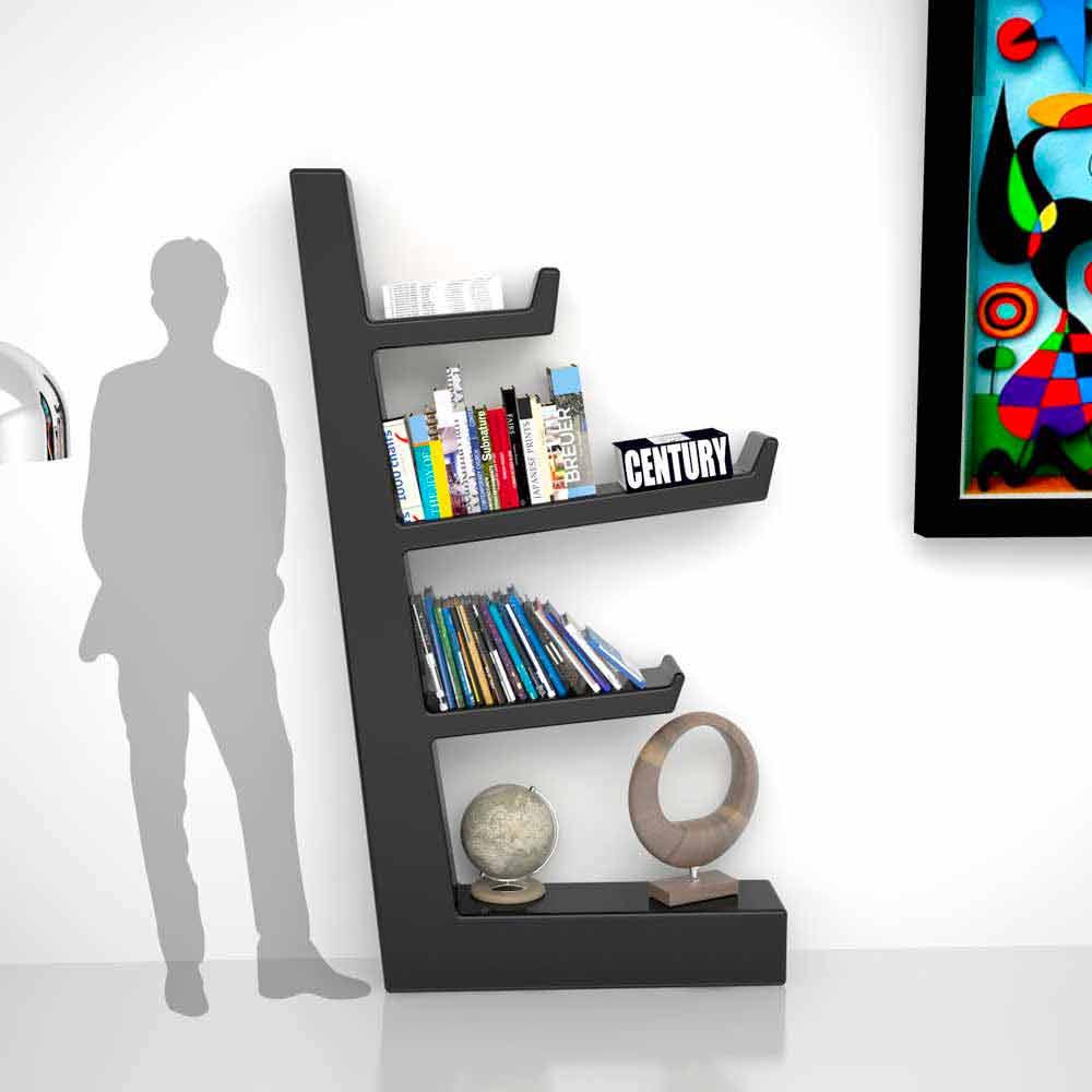 Libreria design moderno in adamantx austen made in italy for Libreria design