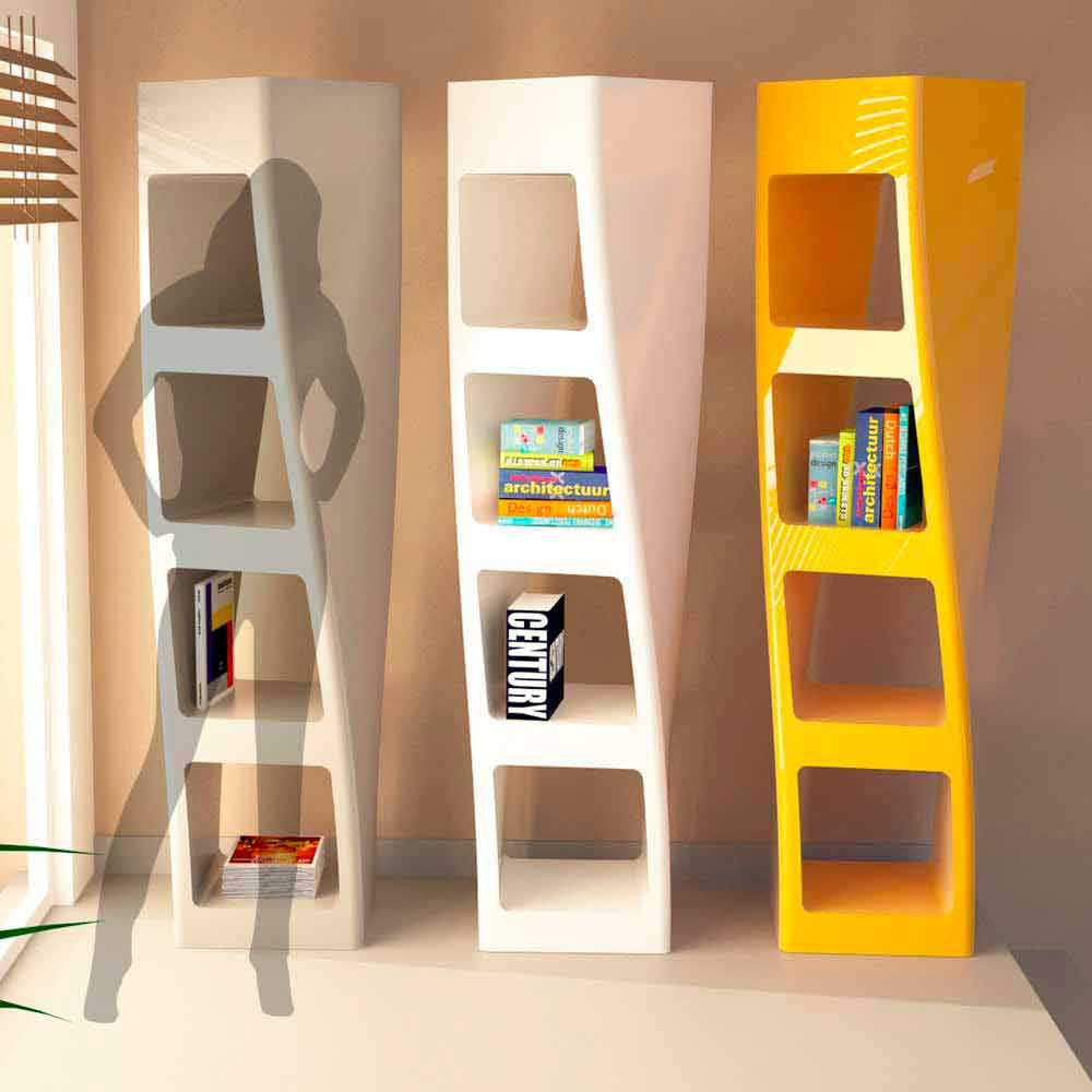 Libreria moderna di design in Solid Surface Collins