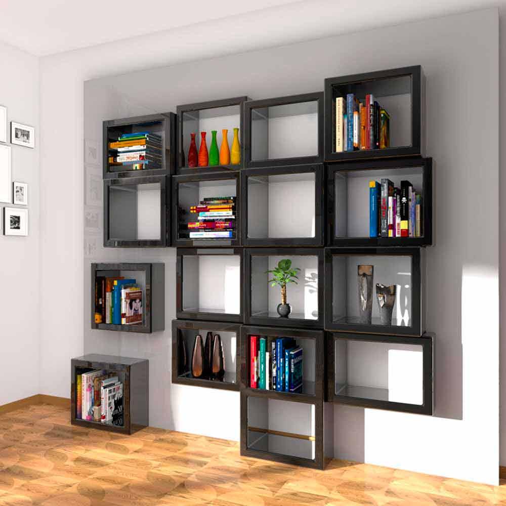 Libreria da parete design fra011 made in italy - Libreria parete ...