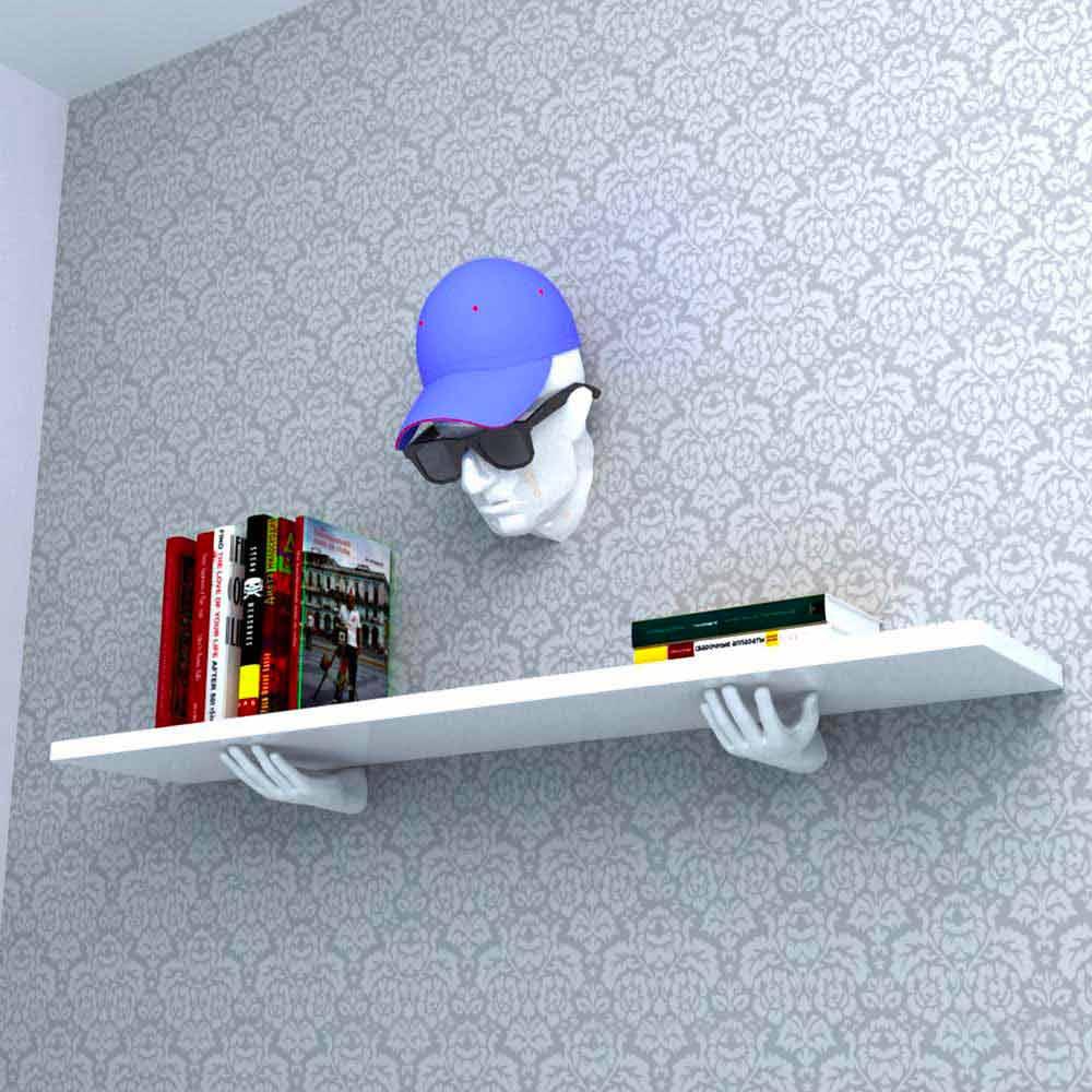 Mensola design moderno vladimir made in italy for Oggettistica design moderno