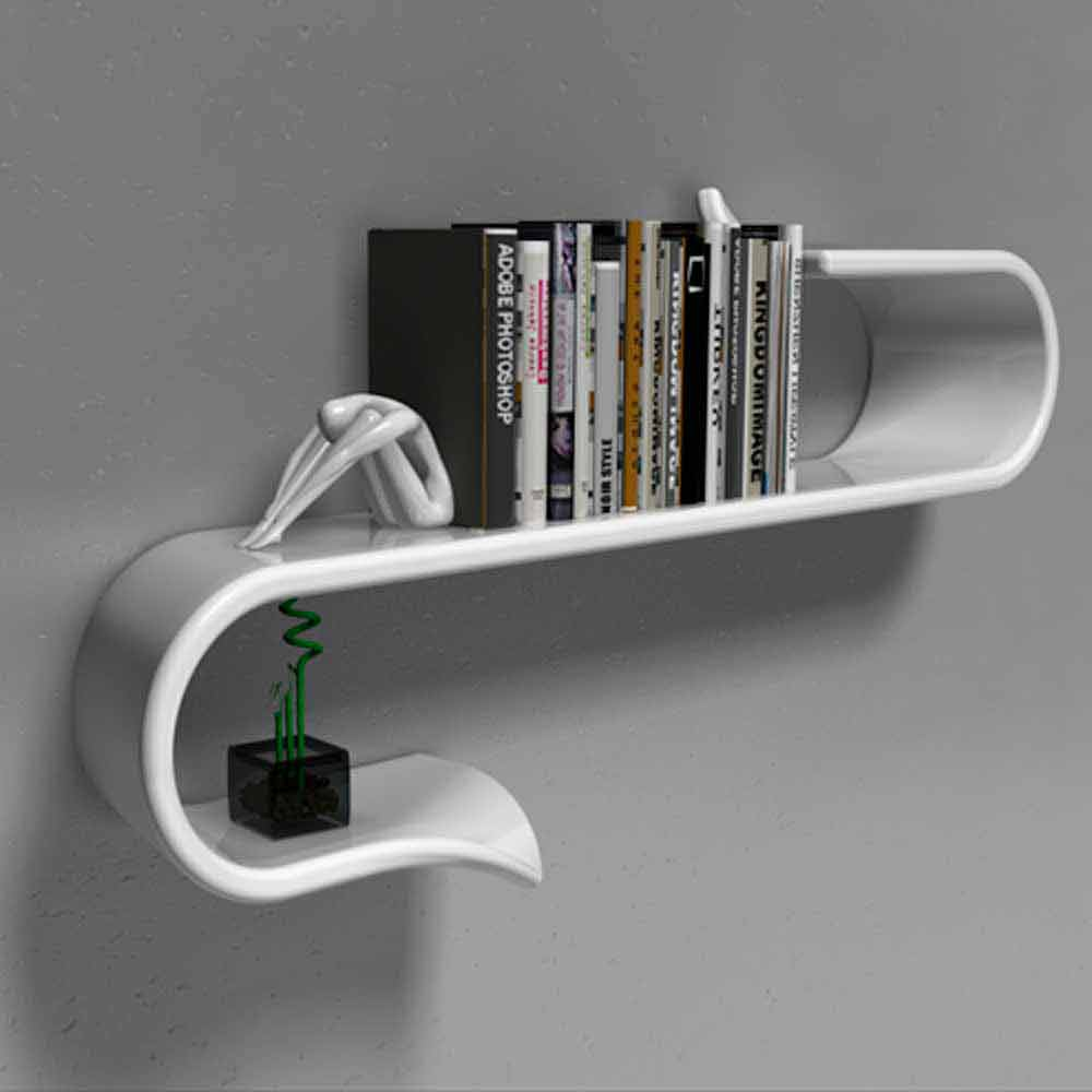Mensola design moderno Waveshelf by Viadurini Design Italy a ...