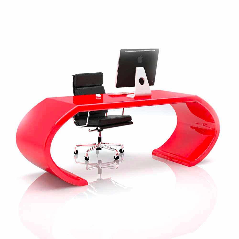 Scrivania moderna di design da ufficio adams fatta in italia for Scrivania design