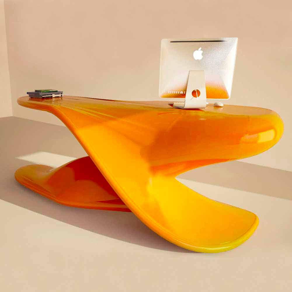 Scrivania di design da ufficio fatta artigianalmente archer for Design ufficio