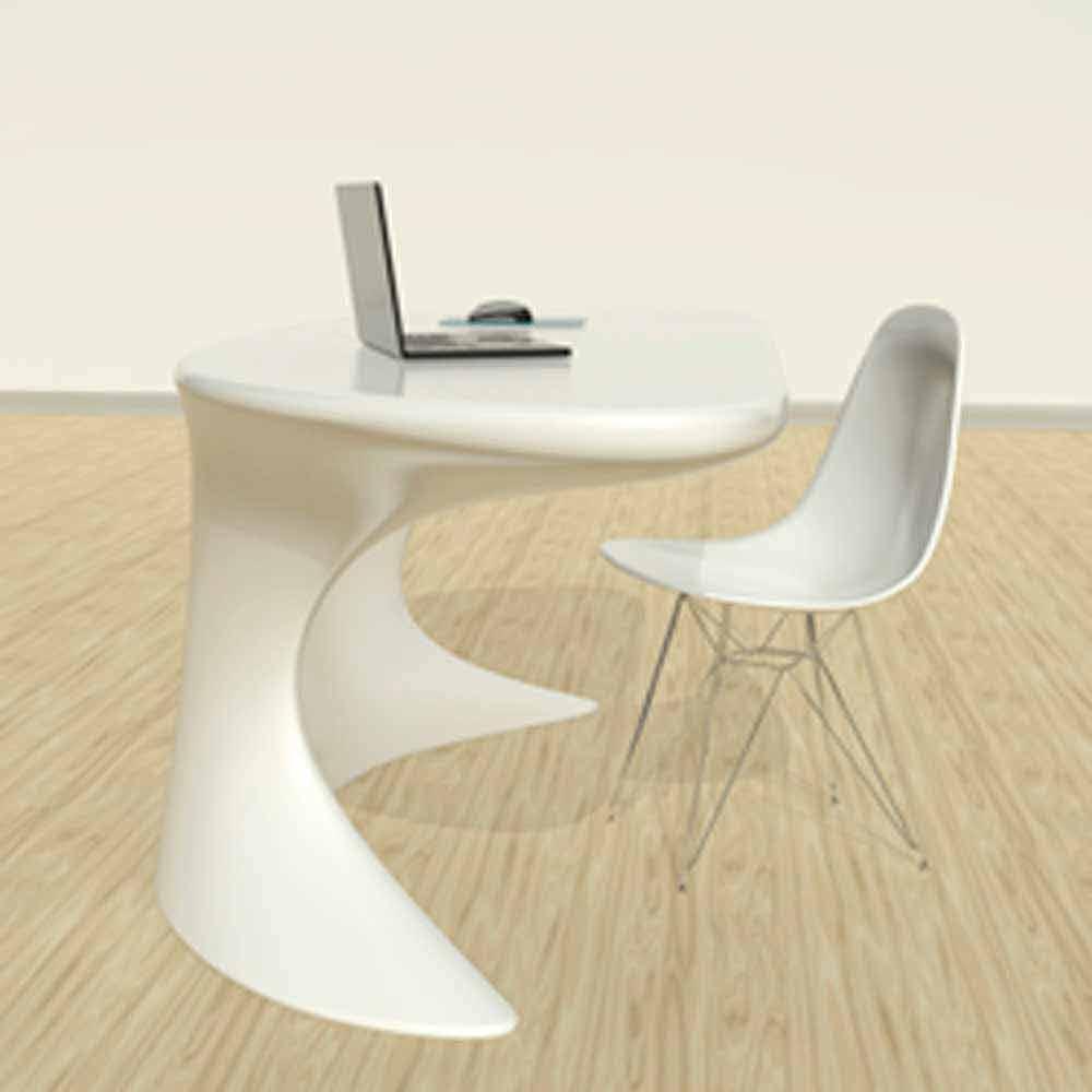 Scrivania da ufficio moderna bianca blu o grigia cobra for Consolle scrivania moderna
