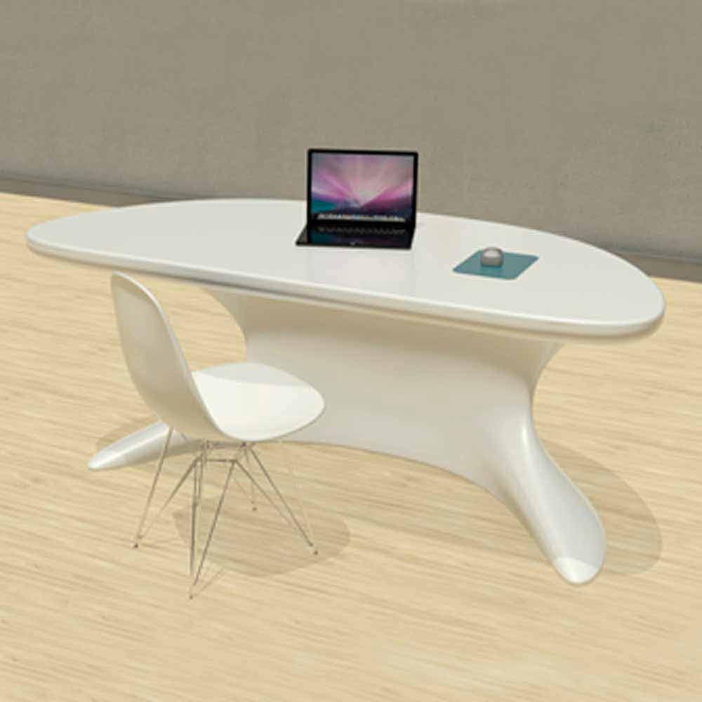 Scrivania da ufficio moderna bianca blu o grigia cobra for Design ufficio scrivania