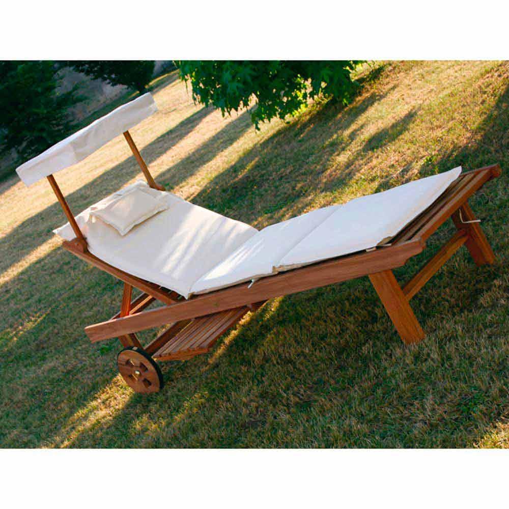 Lettino regolabile da giardino in legno di teak - Lettino giardino ...