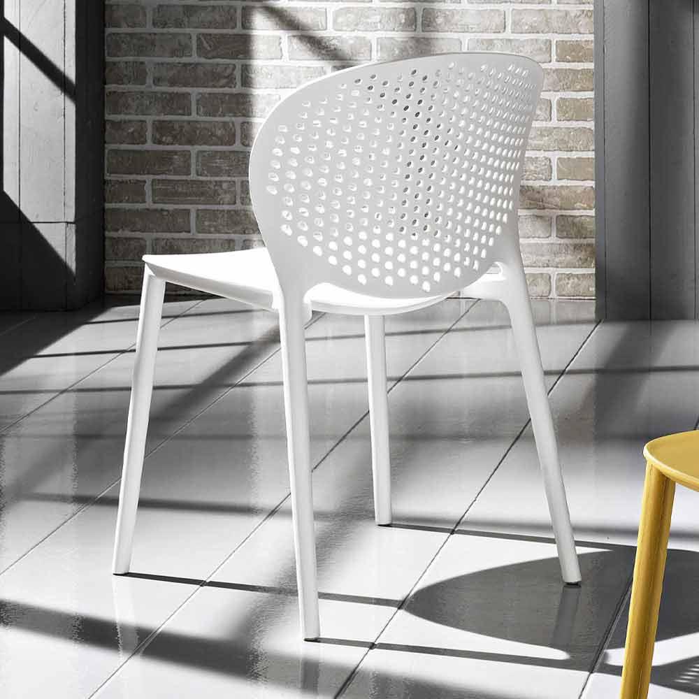 Sedie Moderne da Soggiorno Impilabili Colorate di Design