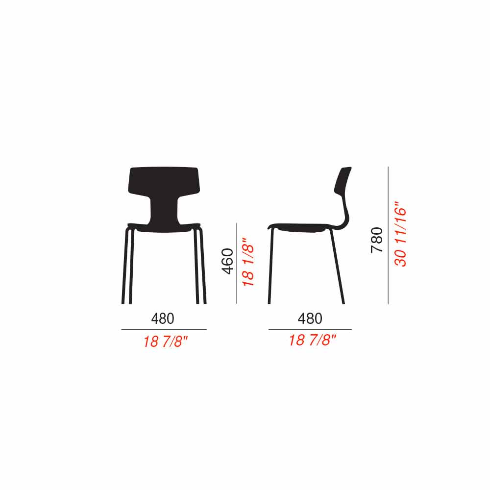 Sedie in Metallo e Polipropilene Made in Italy, 4 Pezzi