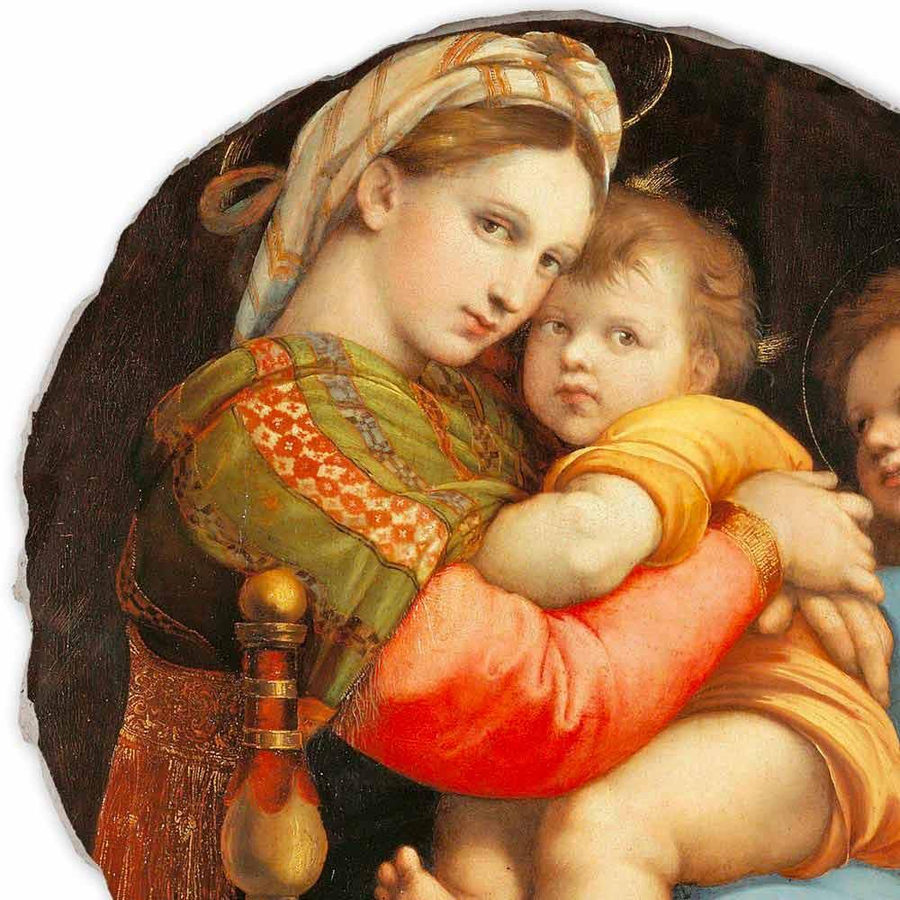 Affresco Riproduzione Raffaello Sanzio Madonna Della