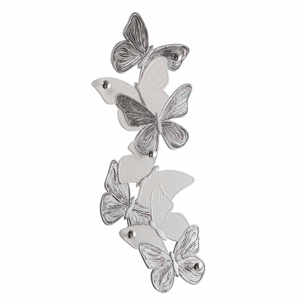 Appendiabiti Da Parete Farfalle.Appendiabiti Da Muro Con Farfalle Di Design 5pomelli Made Italy Brice