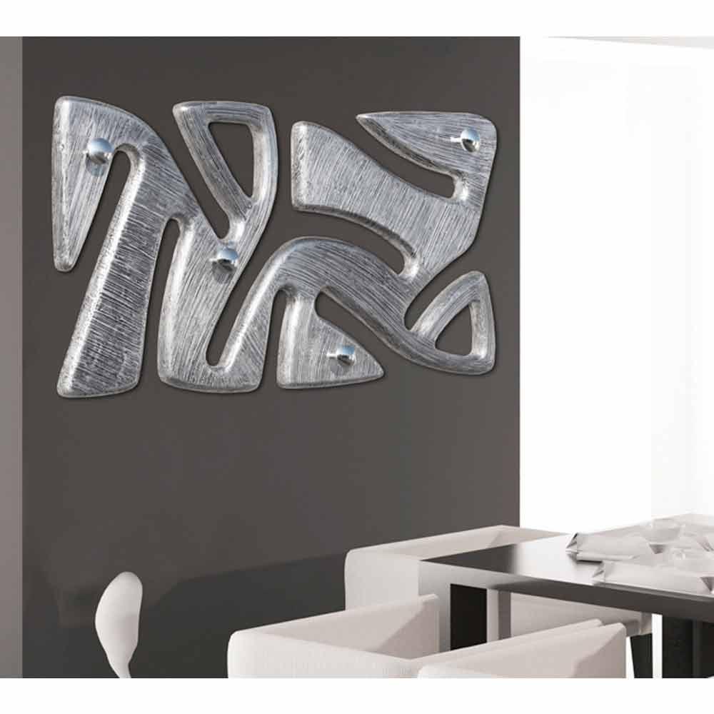 Appendiabiti da muro design decorato a mano in foglia argento holt - Appendiabiti a parete moderni ...