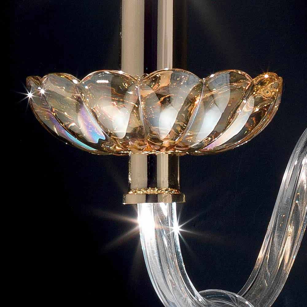 Applique da parete design classico in cristallo e vetro - Applique da parete design ...