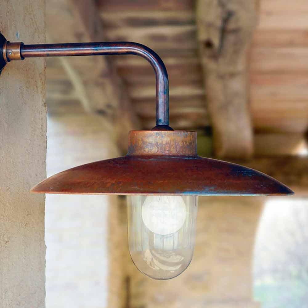 Applique da parete nabucco di aldo bernardi linea ottoni - Illuminazione da parete design ...