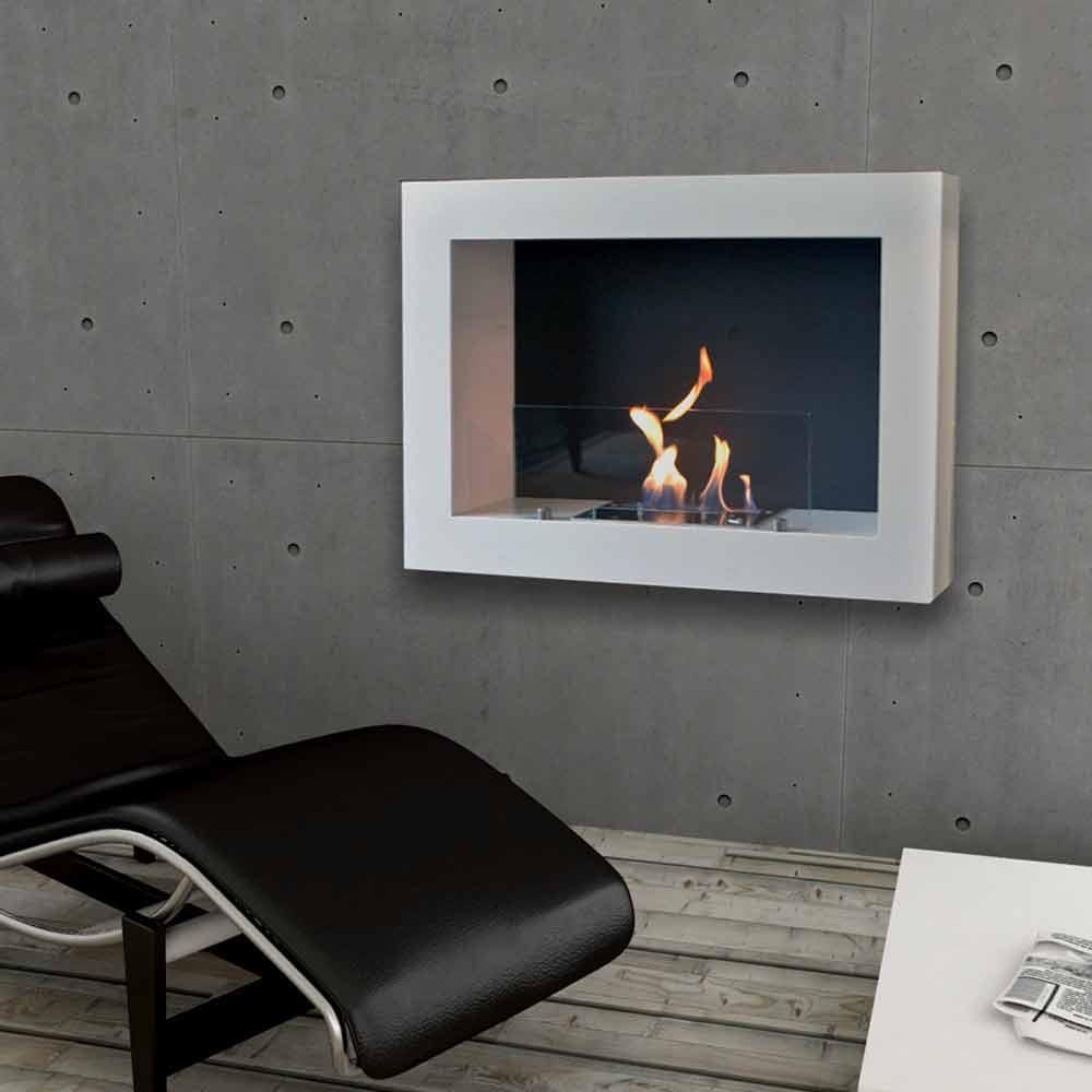 Biocamino da parete moderno design modello blake a prezzi for Design moderno
