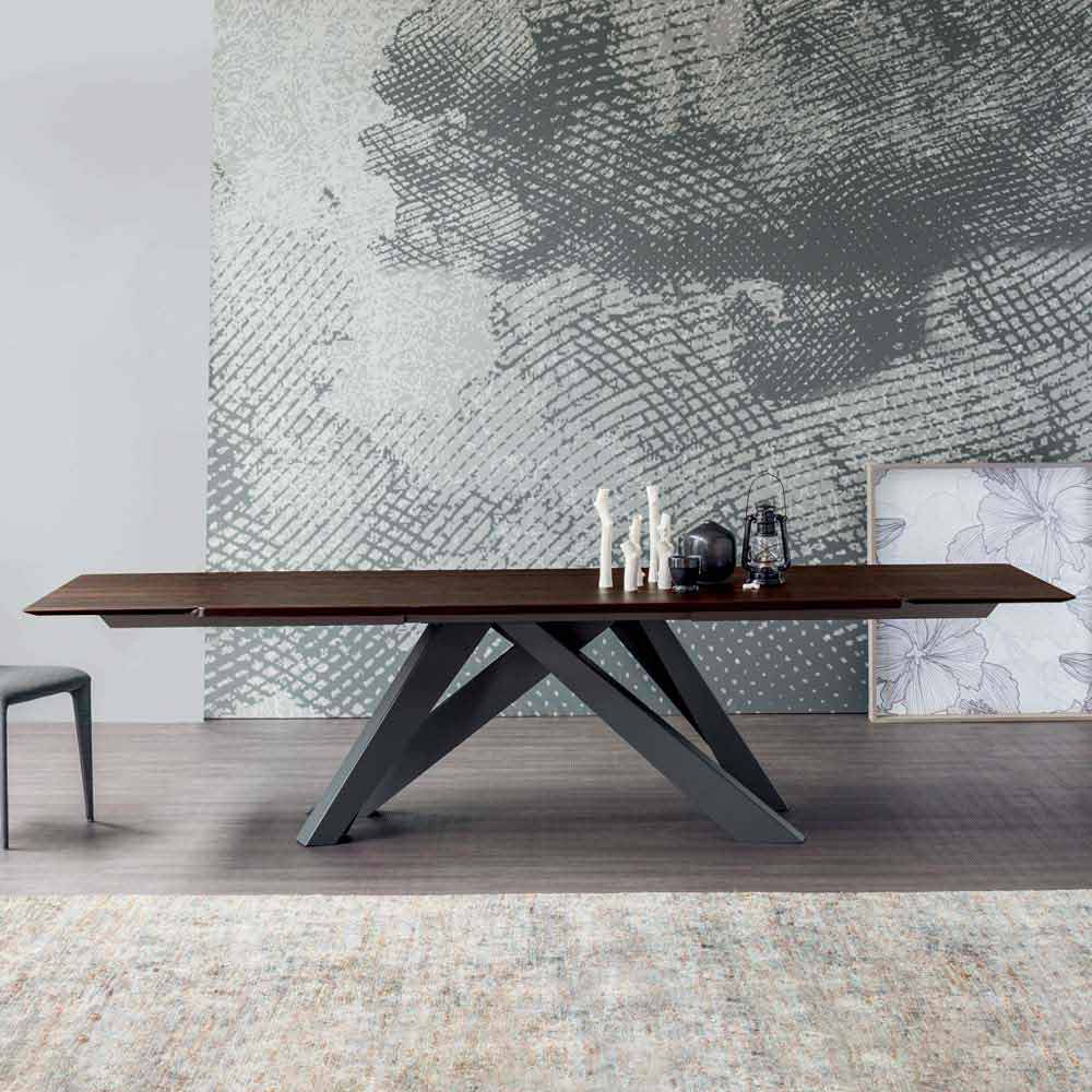 Bonaldo big table tavolo allungabile in legno di design for Design esstisch ausziehbar