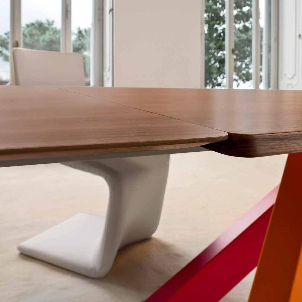 Bonaldo big table tavolo allungabile legno impiallacciato made italy - Tavolo bonaldo big table ...