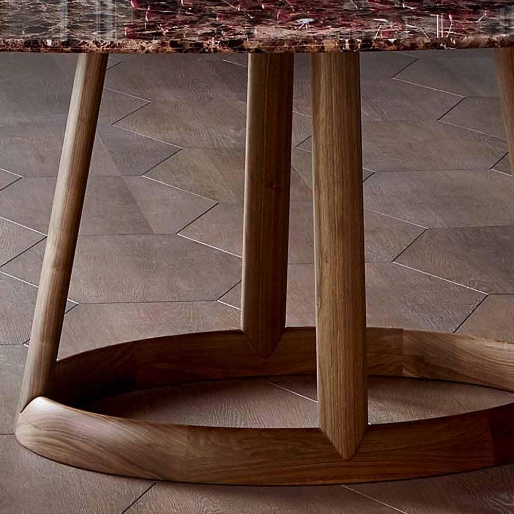 Bonaldo greeny tavolo tondo design piano marmo emperador - Tavolo marmo design ...
