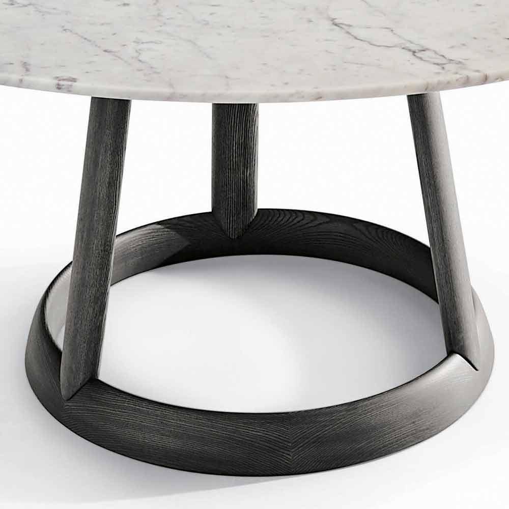 Bonaldo greeny tavolo tondo di design piano marmo carrara for Tavolo tondo design