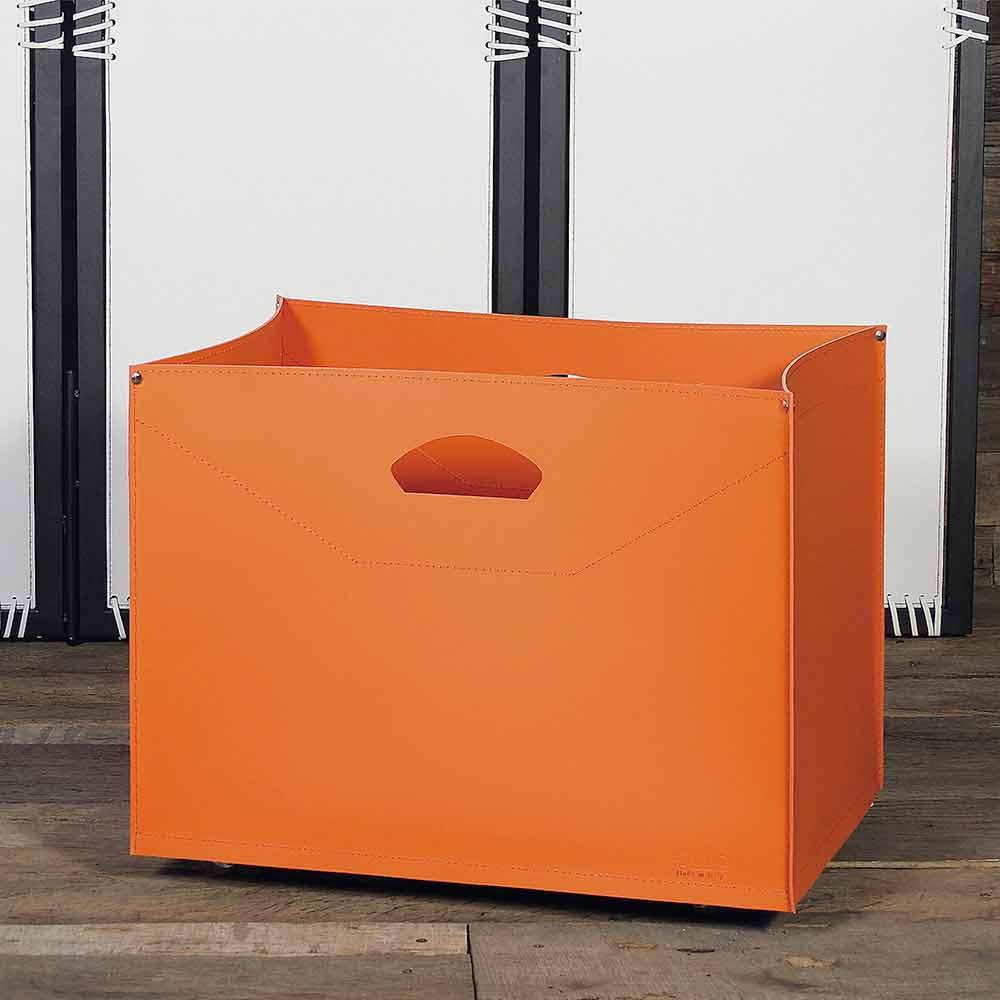 Borsa portalegna in cuoio con ruote da interni modello gastone for Portalegna da interno ikea