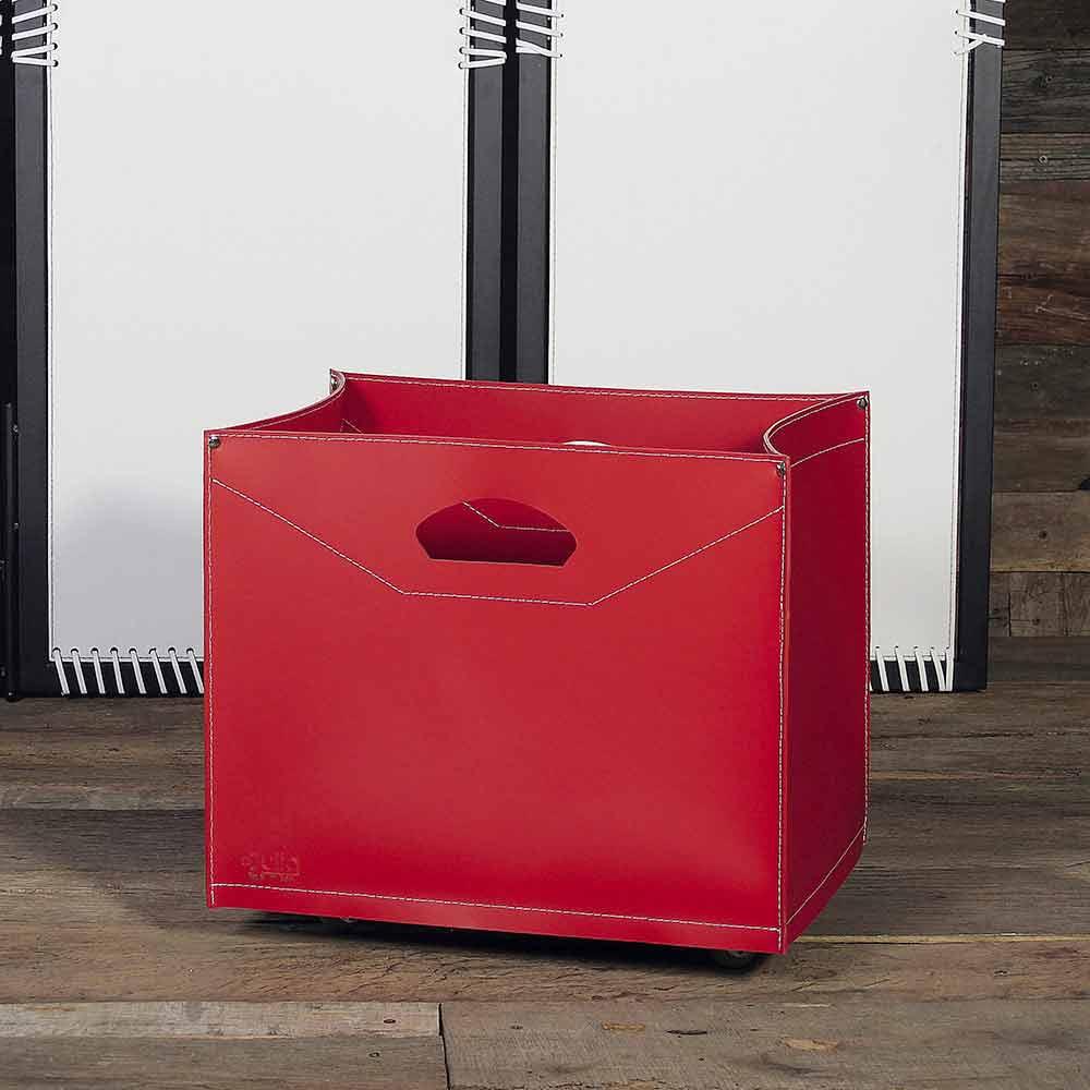 Borsa portalegna design con ruote made in italy innovo - Portalegna da interno ...