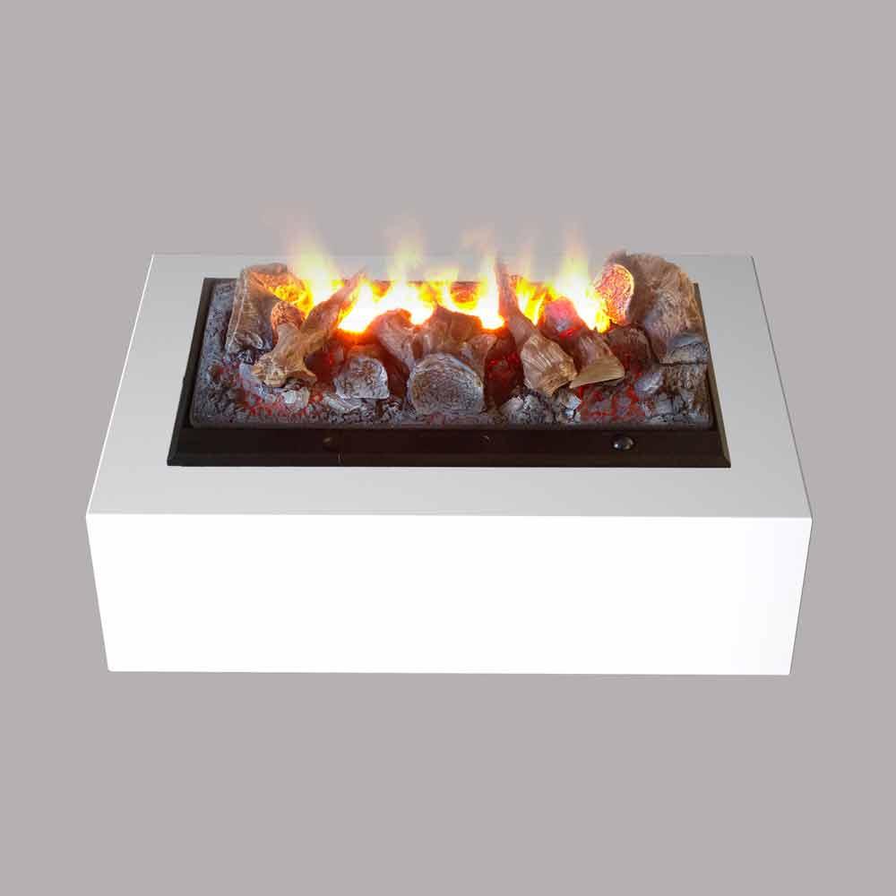 Camino elettrico da tavolo e da terra effetto fiamma e for Camino elettrico effetto fiamma
