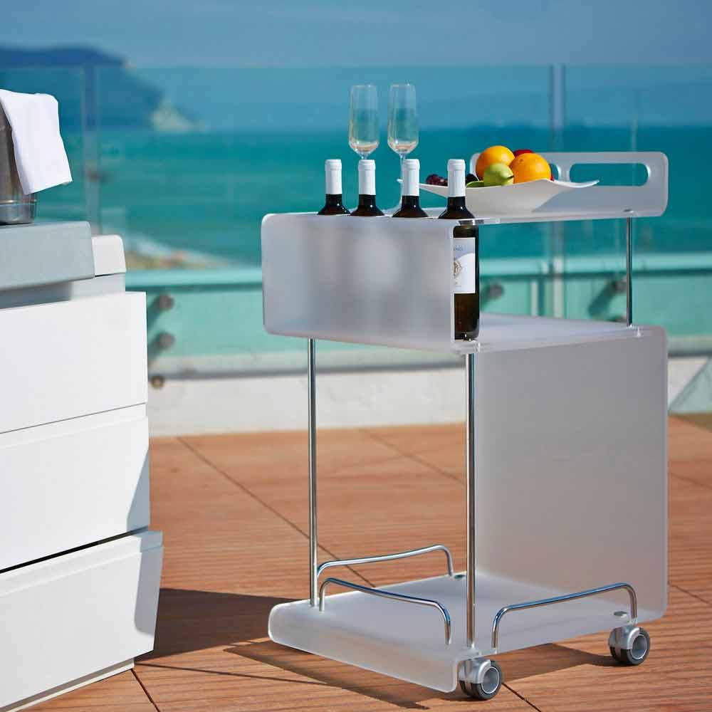 Carrello di design moderno in metacrilato sp 8 mm paco for Oggettistica design moderno