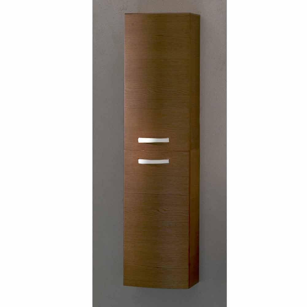 Colonna bagno sospesa a 2 ante in legno rovere gioia made for Colonna sospesa bagno