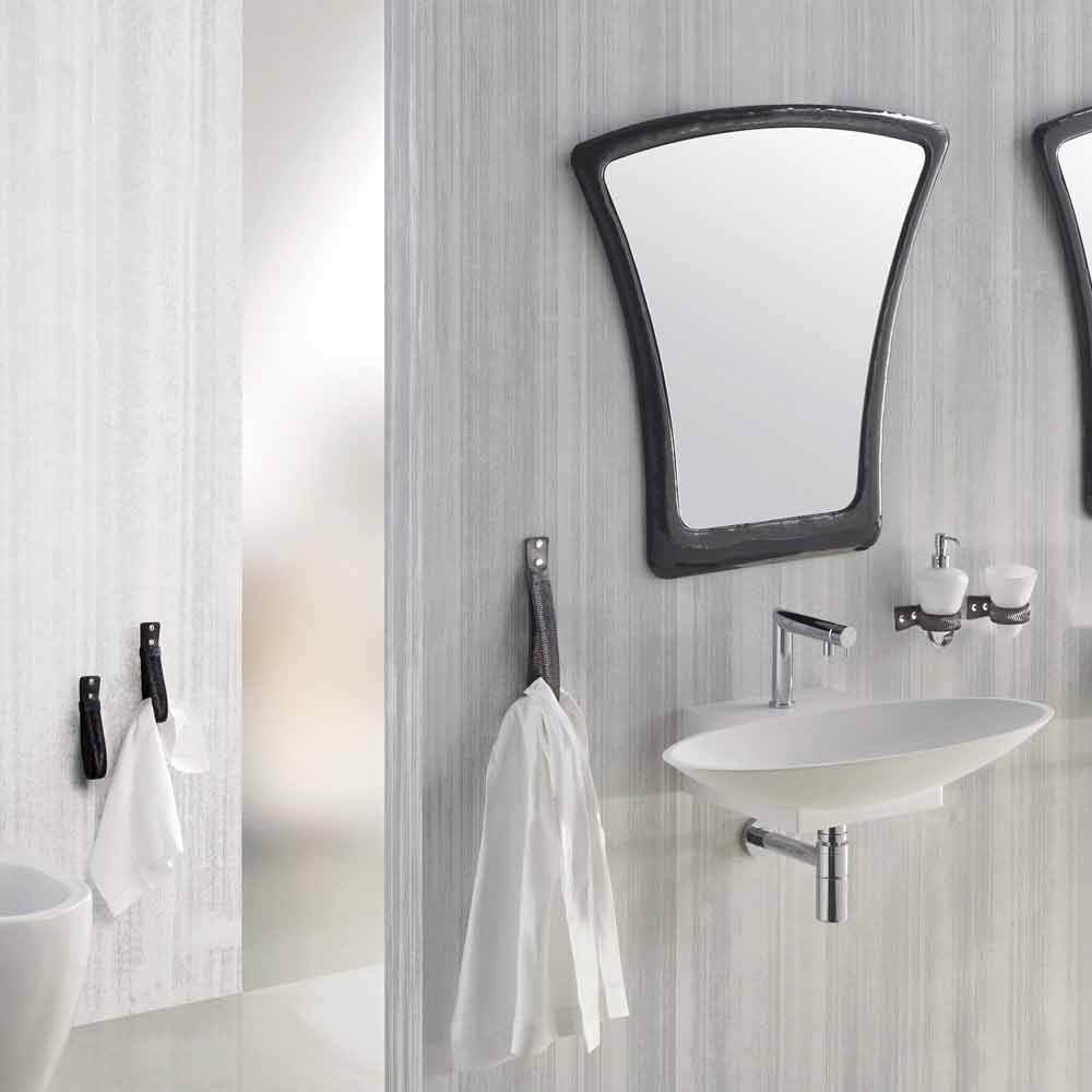 Composizione mobili bagno sospesa moderna realizzata in for Composizione arredo bagno