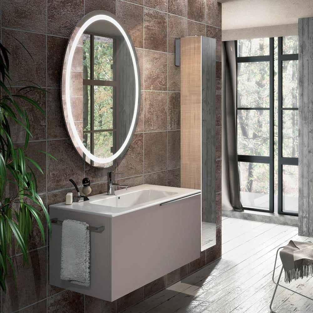 Composizione mobili moderni da bagno in ecolegno made in italy genova for Mobili da bagno design