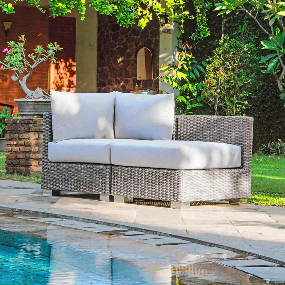 Composizione salotto da giardino artigianale ania di design - Composizione giardino ...