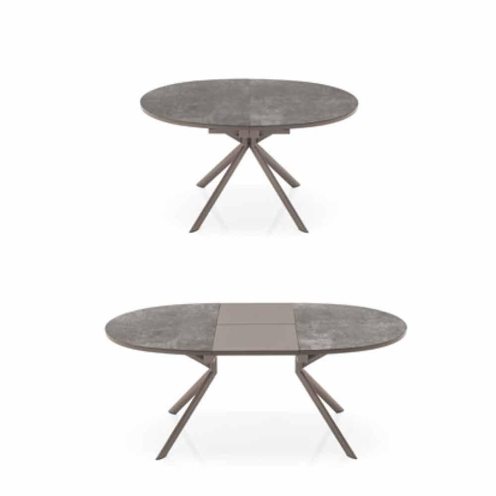 Connubia calligaris giove tavolo allungabile in ceramica - Tavolo tondo allungabile calligaris ...