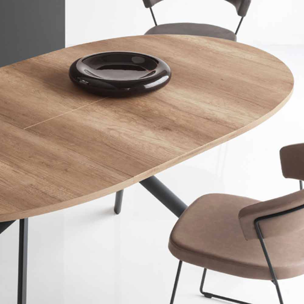Connubia calligaris giove tavolo ovale allungabile in for Tavolo ovale calligaris
