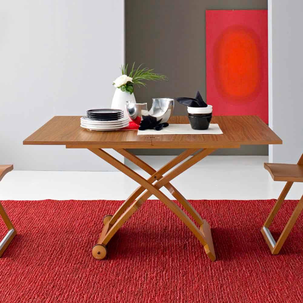 Connubia calligaris mascotte tavolino in legno regolabile for Librerie componibili calligaris