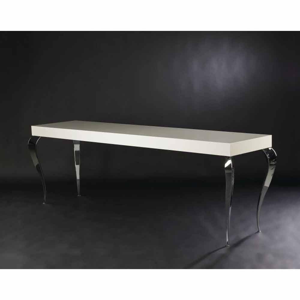Consolle di design a quattro gambe in mdf e acciaio luigi for Consolle di design