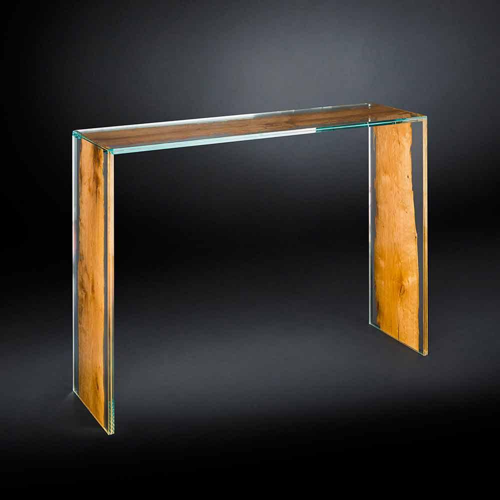 Consolle moderna in vetro e legno di briccola veneziana for Consolle moderne di design