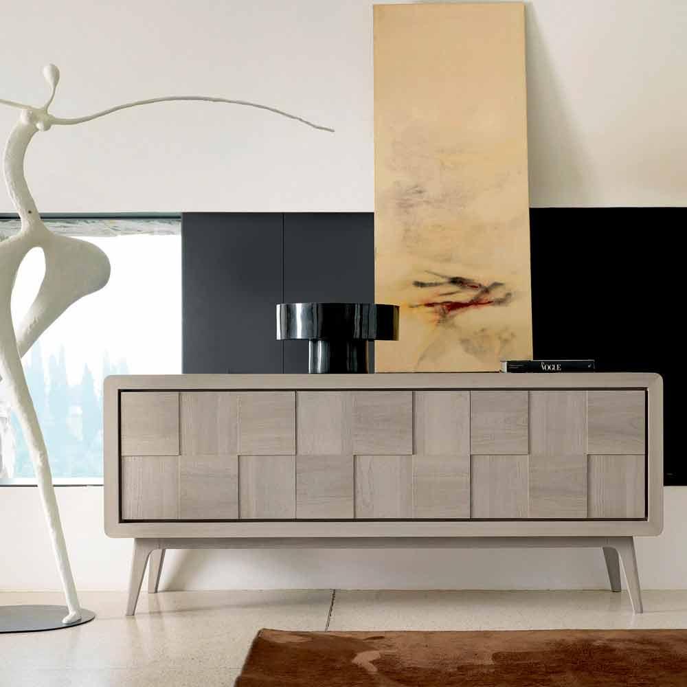 Credenza con 3 ante in legno massello design moderno nensi - Mobili credenze moderne ...